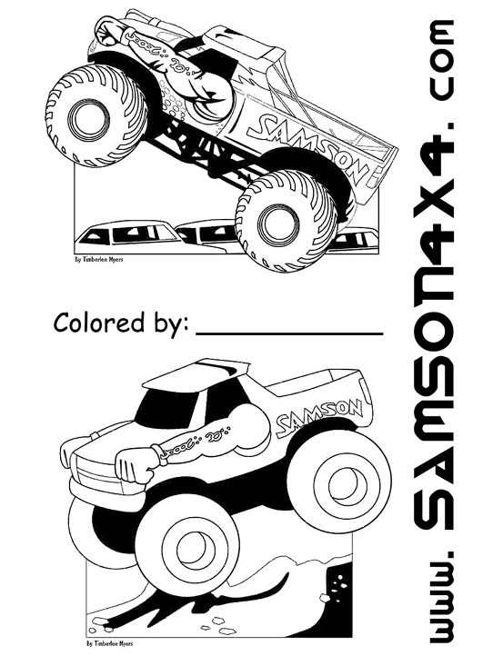 grave digger monster truck coloring pages - Grave Digger Truck Coloring Pages