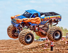 Autographed Samson 4x4 Monster truck racing photo