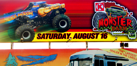 Charlotte Monster Truck Event Billboard