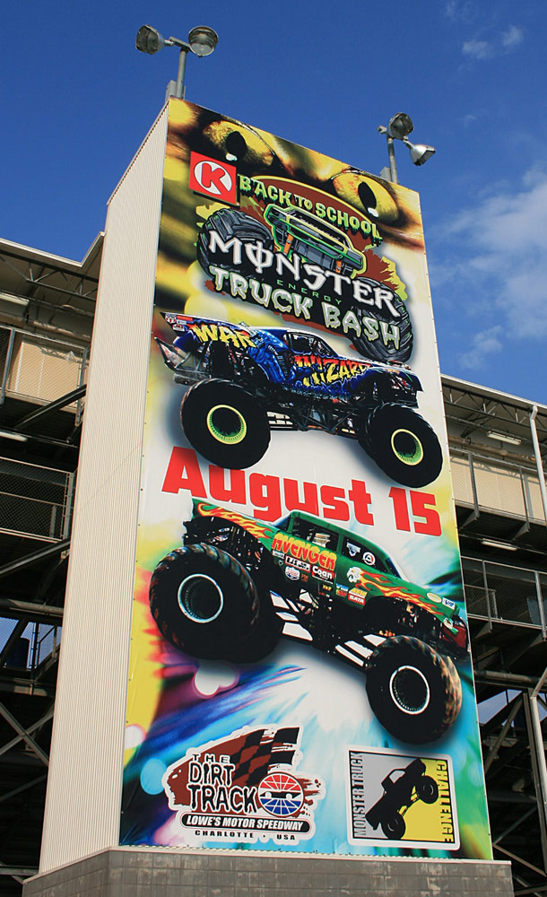 2009 samson monster truck racing photos pictures racing for Charlotte motor speedway driving school